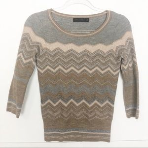 EUC The Limited brown Chevron wool knit sweater